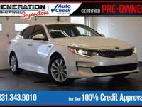 White 2016 Kia Optima EX FWD 6-Speed Automatic with