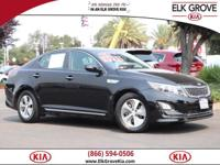 CARFAX One Owner. Clean CARFAX. Black 2016 Kia Optima