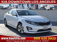 Clean CARFAX. White 2016 Kia Optima Hybrid EX 4D Sedan