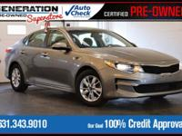New Price! Certified. Titanium Gray 2016 Kia Optima LX