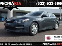 This is a dealer certified 2016 Kia Optima LX model