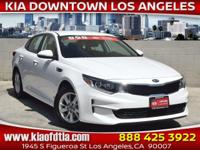 Clean CARFAX. White 2016 Kia Optima LX 4D Sedan FWD