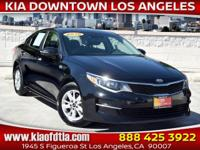 Black 2016 Kia Optima LX 4D Sedan FWD 6-Speed Automatic