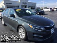 2016 Kia Optima LX  in Gray, AUX CONNECTION, USB,