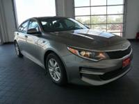Options:  2016 Kia Optima Lx|Silver|Black. Nice Car!