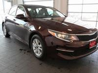 Options:  2016 Kia Optima Lx|Purple|Beige. Best Color!