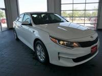 Options:  2016 Kia Optima Lx|White|Black. Your Lucky