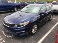 CARFAX One-Owner. Clean CARFAX. Blue 2016 Kia Optima LX