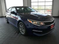 Options:  2016 Kia Optima Lx|Blue|Black. Turbocharged!