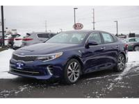 2016 Kia Optima SX Blue 32/22 Highway/City MPG