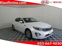 This White 2016 Kia Optima Hybrid is Kia Certified with