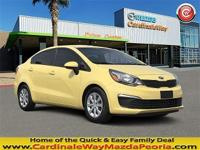 CARFAX One-Owner. Clean CARFAX. Yellow 2016 Kia Rio LX
