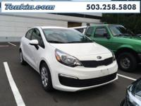 WOW!!! Check out this. 2016 Kia Rio LX White 1.6L I4