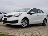 2016 Kia Rio LX in Clear White, This Rio comes with