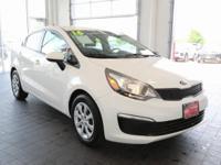 Options:  2016 Kia Rio Lx|White|**Carfax 1
