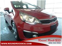 Options:  2016 Kia Rio Sx|Red|Black. Are You Ready For