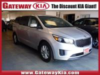 KIA CERTIFIED, THIS SILVER SEDONA LX HAS A CLEAN