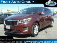 Certified Vehicle! New Arrival! This 2016 Kia Sedona LX