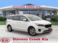 Options:  2016 Kia Sedona Lx Minivan|White|V6 3.3