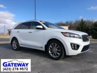 Snow White Pearl 2016 Kia Sorento SXL AWD 6-Speed