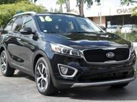 Options:  2016 Kia Sorento Ex|Ebony Black/Satin