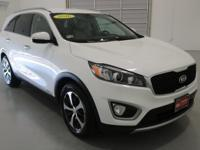 2016 Kia Sorento EX White AWD, All Books & Keys,