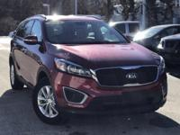 2016 Kia Sorento LX Red 21/26 City/Highway MPG Clean
