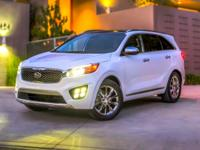 2016 Kia Sorento LX AWD.26/21 Highway/City MPGOnly
