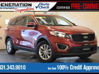 Red 2016 Kia Sorento LX AWD 6-Speed Automatic with