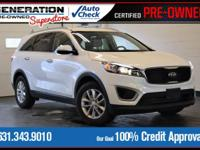 White 2016 Kia Sorento LX AWD 6-Speed Automatic with