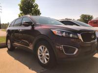 Sorento LX, AWD. CARFAX One-Owner. Clean CARFAX. Maroon