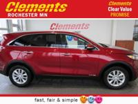 Options:  2016 Kia Sorento Awd 4Dr 3.3L Lx|All Wheel