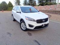 Our One Owner 2016 Kia Sorento LX AWD in White exudes