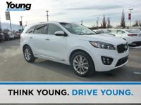 2016 Kia Sorento SXL White Clean CARFAX. AWD 6-Speed