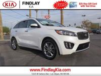 Clean CARFAX. Certified. White 2016 Kia Sorento Limited