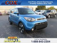 This 2016 Kia Soul in Blue is well equipped with: