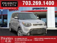 Options:  2016 Kia Soul Plus|Silver|Carfax One-Owner.