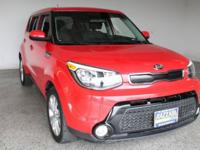 2016 Kia Soul Plus 4D Hatchback Inferno Red I4 FWD