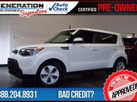 Kia Certified, Clear White, and 2016 Kia Soul.