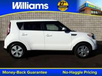 Options:  2016 Kia Soul Base|White|Usb Port|Clean