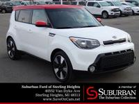 Clean CARFAX. White 2016 Kia Soul FWD 6-Speed Automatic