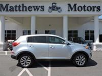 Bright Silver 2016 Kia Sportage LX AWD 6-Speed