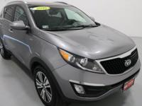 2016 Kia Sportage EX Silver AWD, Cooled Glovebox, Dual
