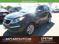 Options:  2016 Kia Sportage Lx|Black Cherry/Black|V4