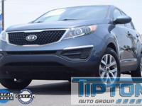 2016 Kia Sportage in Twilight Blue exterior and Alpine