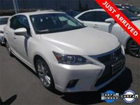 2016 Lexus CT 200h Eminent White Pearl w/Black w/NuLuxe