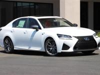 Clean CARFAX. 2016 Lexus GS F RWD 8-Speed Automatic