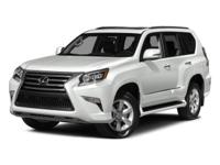 Boasts 20 Highway MPG and 15 City MPG! This Lexus GX