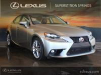 Clean CARFAX. Black w/NuLuxe Seat Trim.  2016 Lexus IS