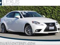 IS 200t, Lexus Certified, 2.0L I4 Turbocharged, RWD,